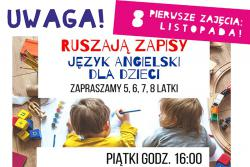 Język angielski dla dzieci w MOKSiR - zapisy!