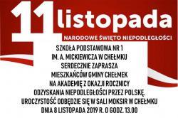 Akademia z okazji odzyskania niepodległości przez Polskę