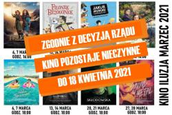 Repertuar kina ILUZJA marzec 2021 r.