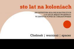 STO LAT NA KOLONIACH - ARCHITEKTURA KOLONII ROBOTNICZYCH Z 20-LECIA MIĘDZYWOJENNEGO W DAWNYM POWIECIE CHRZANOWSKIM