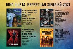 Repertuar kina ILUZJA sierpień 2021 r.