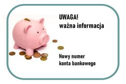 Nowy numer konta bankowego